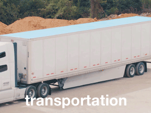 Fiberglass panels for trailers